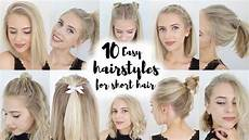 10 easy hairstyles for short hair youtube