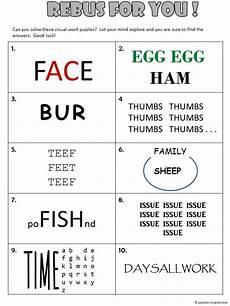 rebus puzzle worksheet with answers rebus worksheet 1
