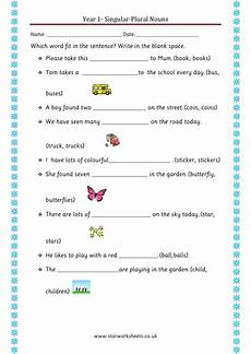 year 1 plural nouns worksheet teaching resources