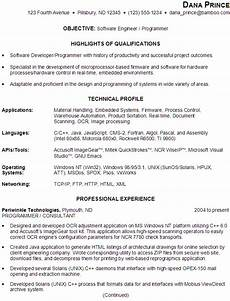 sle resume for someone seeking a as a software engineer programmer resume software