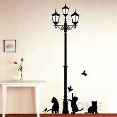 light and cat room decor street removable vinyl decal mural art pvc wall sticker ebay