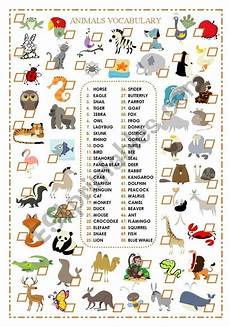 animals like worksheets 13941 this is a worksheet for beginners students when cheking animals vocabulary i you