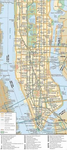 Stadtplan New York - manhattan history map population points of interest