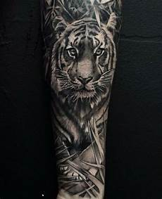 tiger with images black and grey tattoos grey