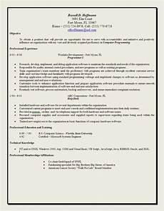 exle objective statement resume