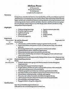 all things you should know about nanny resume sle