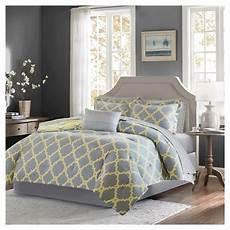 9pc king becker printed complete bed gray target