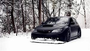 Subaru Impreza Wrx Sti Snow Winter Tuning Black Car Jdm