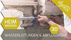 Wasserleitungen Und Abflussrohr Verlegen 3d