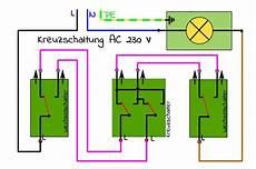 schaltung le schalter steckdose wechselschaltung und kreuzschaltung mit schaltplan