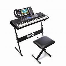 Portable Electronic Piano Keyboard 61 Key With Stand Stool