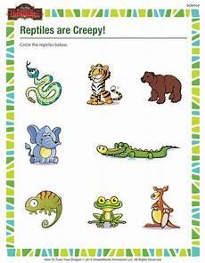 reptiles are creepy kindergarten science worksheet sod