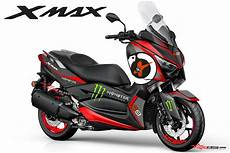 Modifikasi Xmax 250 by Modifikasi Striping Yamaha Xmax 250 Jorge Lorenzo 99