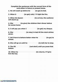 time clauses worksheets 2951 time clauses interactive worksheet