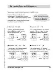 estimating difference worksheets for grade 3 8287 estimating sums and differences worksheet for 4th 5th grade lesson planet