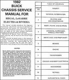 car maintenance manuals 2004 buick regal user handbook 1982 buick shop manual lesabre riviera regal electra original repair service