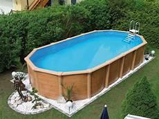 Steirerbecken Pool Supreme Stahlwandbecken Wood Rund Oder