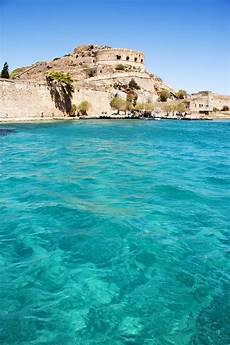 Griechenland Kreta Wetter Spinalonga Bay Crete Greece We Could See It From Our