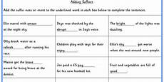 adding suffixes ks1 spag test practice classroom secrets