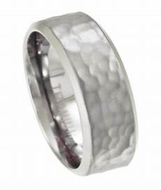 8mm men s titanium wedding ring with hammered texture justmensrings com