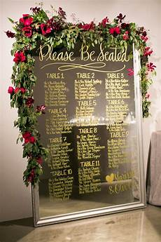 Ideas For Seating Charts At Wedding Reception