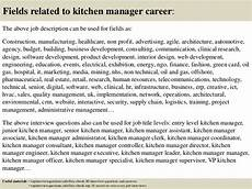 Kitchen Manager Description Pdf by Top 10 Kitchen Manager Questions And Answers
