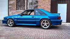 blue ford mustang foxbody ccw sp500 forged wheels ccw