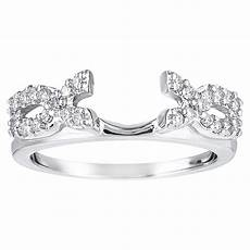 sterling silver cubic zirconia classic wedding ring wrap