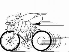 schneller radfahrer ausmalbild malvorlage comics