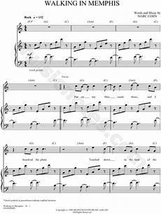 walking in memphis sheet music piano pdf marc cohn quot walking in memphis quot sheet music in c major transposable download print sku