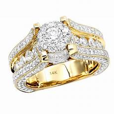 glowing 3 carat halo round diamond engagement ring 14k gold for women