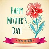 Watercolor Flower Happy Mothers Day Card I Love You Mom