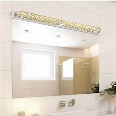 modern led crystal bathroom mirror sconces light 23w over