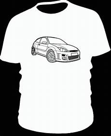 ford focus rs mk1 t shirt black with white print dtg
