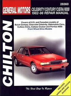 car manuals free online 1996 buick century electronic toll collection buick century chevy celebrity ciera etc repair manual 1982 1996