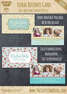 floral business card template photoshop the coffeeshop coffeeshop floral business card