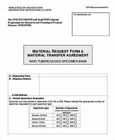 free 10 sle material request forms in pdf ms word