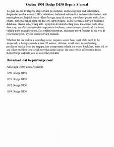 1991 dodge d250 service repair manual software servicemanualsrepair 1991 dodge d150 repair manual online by ericdver issuu