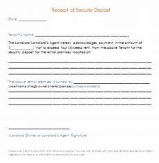 security deposit receipt template security deposit receipt template