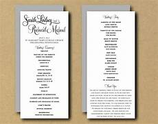printable wedding program template whimsical calligraphy tea length program printable