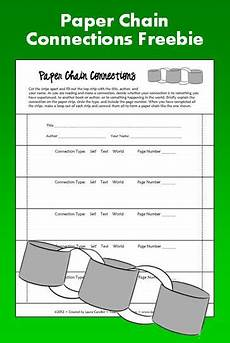 paper chains worksheets 15666 free paper chain connections activity students read a book and write connecti with images