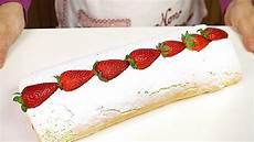 rotolo fragole e panna bimby rotolo alle fragole e panna ricetta facile strawberry roll cake easy recipe youtube