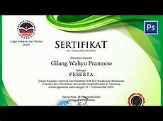 tutorial desain sertifikat seminar dengan coreldraw youtube
