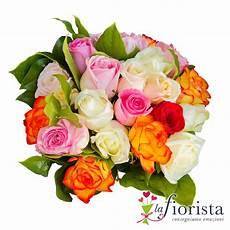 immagini di fiori da stare vendita bouquet di rosa bianche e arancio consegna