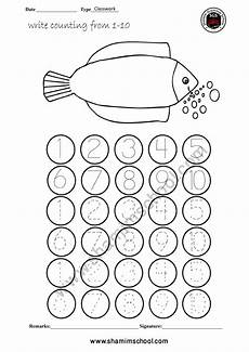pre school counting worksheet tracing dots number 1 10 shamim grammar school sgs