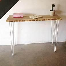fabriquer une console en bois atelier ripaton hairpin legs console en bois et m 233 tal