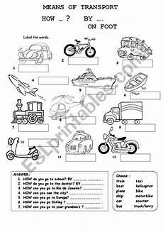 means of transport esl worksheet by fabiola salinas