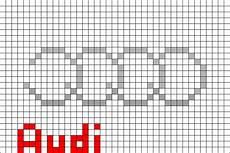 Pixel Logo Voiture Audi Logo Pixel Brik