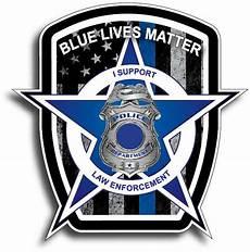 blue lives matter american flag car truck decal