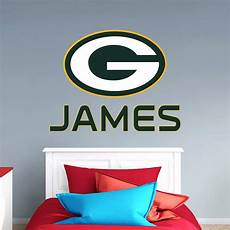 green bay packers wall stickers green bay packers stacked personalized name wall decal
